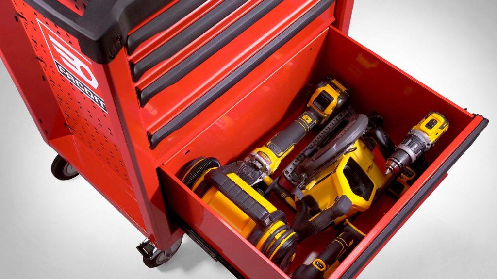 Servante FACOM ROLL5 grand public avec rangement Soute pour outils volumineux